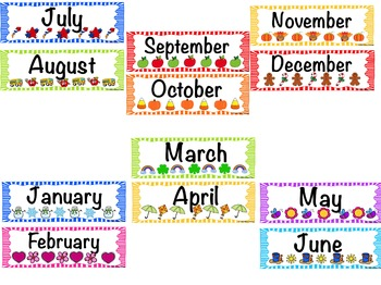 Back to School Calendar Set