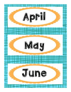 Back to School Calendar Set