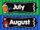 Back to School Calendar Set {Chalkboard & Stripes}