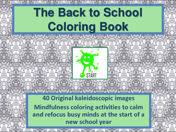 Back to School. Calming Coloring Book