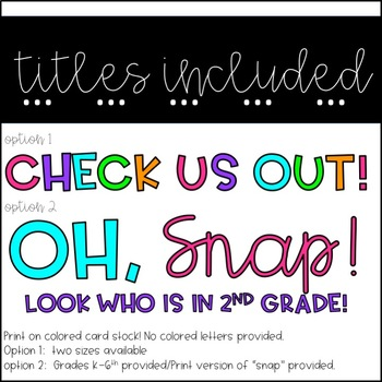 Back to School Camera Craft & Bulletin Board