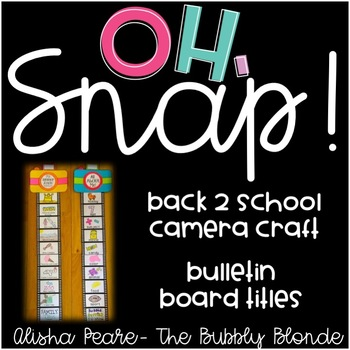 Back to School All About Me Camera Craft & Bulletin Board