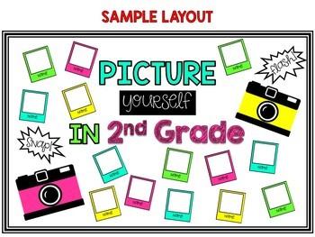Back to School Camera Themed EDITABLE Bulletin Board