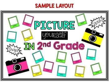 PRINT & GO Camera Themed EDITABLE Bulletin Board