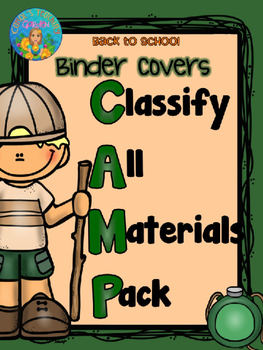 Back to School Camp Binder Covers with Editable Student Names