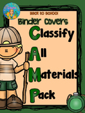 Camp Theme Binder Covers Student Daily Work Folders with Editable Student Names