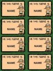 Back to School Camp Themed Name Tags with Editable Names