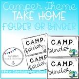 Back to School Retro Camper Take Home Folder Labels