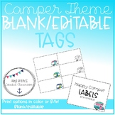Back to School Retro Camper Themed Blank/Editable Labels