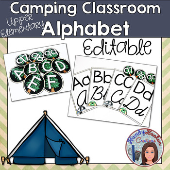 Camping Classroom Alphabet Posters