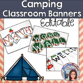 Camping Classroom Decor Banners