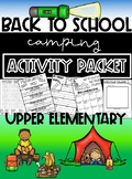 Back to School Camping Classroom Community Packet