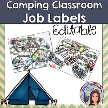 Classroom Jobs Camping Theme