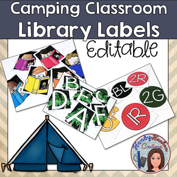 Back to School Camping Classroom Library Labels