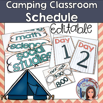 Back to School Camping Classroom Schedule Posters