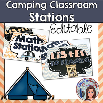 Camping Classroom Stations Posters