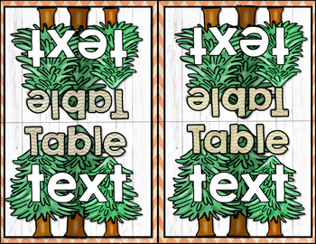 Back to School Camping Classroom Table Labels