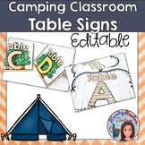 Camping Classroom Table Labels