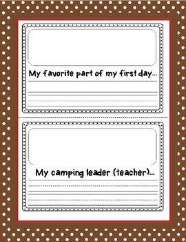 Back to School Camping Mini-Book