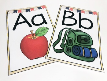 Back to School Camping Primary Alphabet Posters