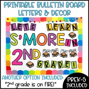 Back to School Camping S'mores Bulletin Board or Door Decoration