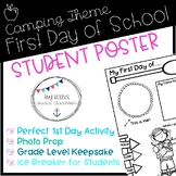 Back to School Camping Theme About Me Poster