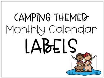 Back to School Camping Theme Calendar Headers