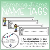 Back to School Camping Theme Name Tags