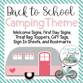 Back to School Camping Theme Packet