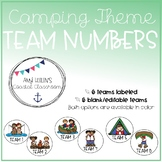 Back to School Camping Theme Table Team Numbers