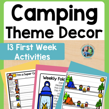 Back to School (Camping Theme) Digital Student Pages for Distance Learning