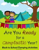 Back to School Camping Themed Activities