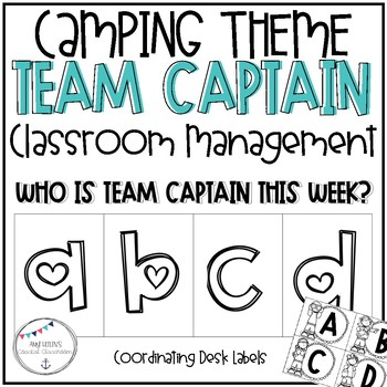 Back to School Camping Themed Team Captains