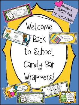 Back to School Candy Bar Wrappers