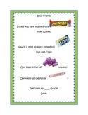 Back to School Candy letter for all grades!