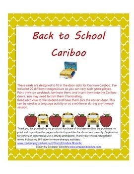 Back to School Cariboo Clues