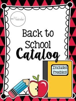 Back to School Catalog