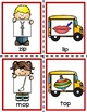 Back to School Catch the Bus Rhyming Literacy Center for PreK, K, & Homeschool