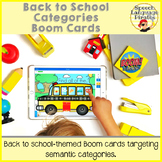Back to School Categories: Boom Cards for Distance Learning
