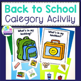 Back to School Category Activity