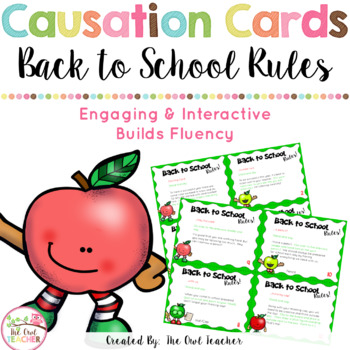 FREE: Back to School Causation Cards