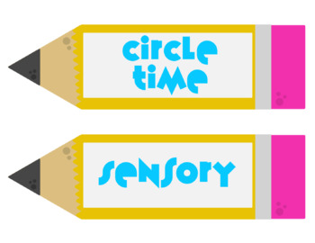 Back to School Center Labels