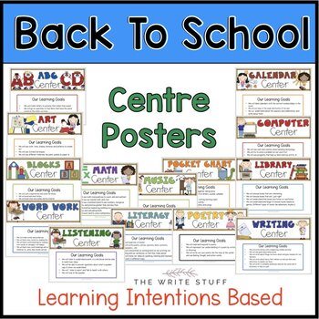 Back to School Activities : Centre Posters and Printables CANADIAN
