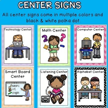 Back to School Center Signs