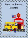 Back to School Task Card Centers
