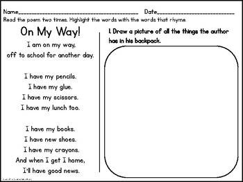 Back-to-School Centers {1st Grade}