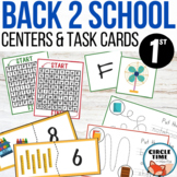 Back to School Centers 1st Grade Task Cards & Beginning Ye