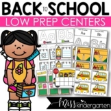 Low Prep Back to School Centers   Math and Literacy Centers