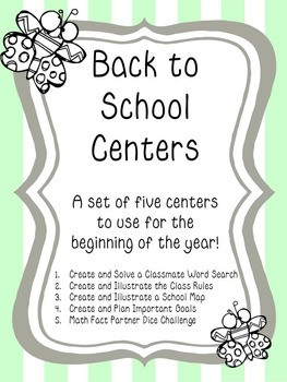 Back to School Centers- Check out the FREE Preview File!