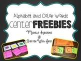 Back to School Centers FREEBIE {alphabet & color words}
